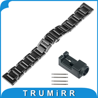 18mm 20mm Full Ceramic Watchband For Seiko Watch Band Wrist Strap Link Bracelet Upgraded Tool Pin