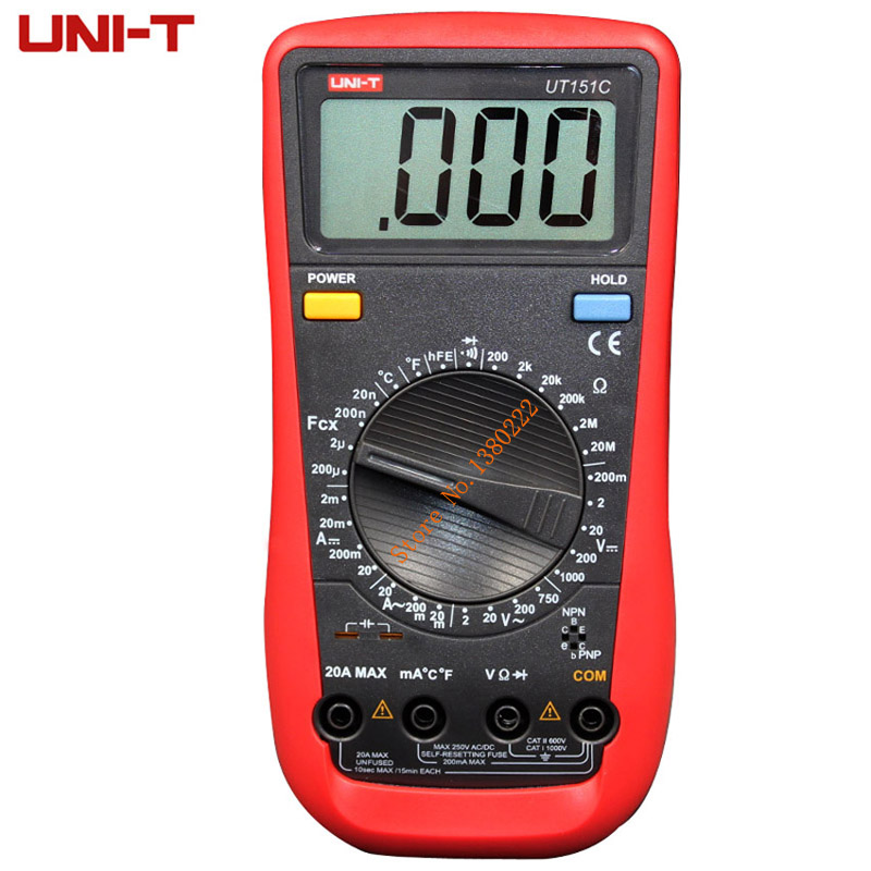 Digital Multimeter UNI-T UT151C  Professional Electrical Handheld Tester  LCR Meter Ammeter Multitester  цены