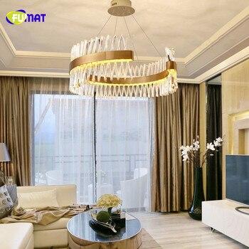 SuperThin FUMAT Moda Moderna Ouro Onda Oco Oval K9 Stainess Aço de Cristal LEVOU Pingente de Iluminação Da Lâmpada de Luxo Para Sala De Jantar