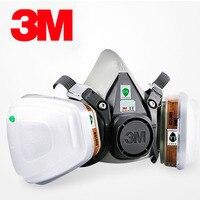 3 Mt 6000 Serie Halbe Gesichtsmaske 6100/6200/6300 mit 6001 Gas Patronen 7 stücke Anzug für malerei Spraying Gegen Organische Dampf