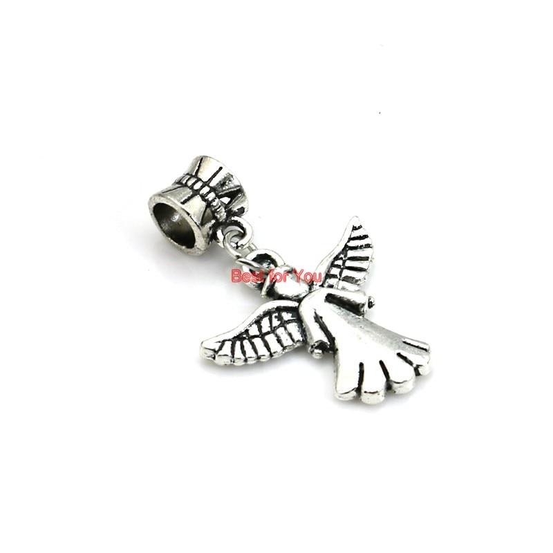 15pcs Moon Angel Wings Charms Pendant DIY Jewelry Findings Handmade Accessories