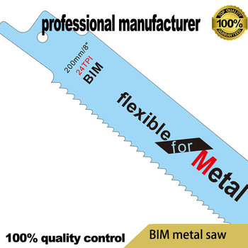 цена на 200mm 24T reciprocating saw blade for saw tool export to USA for steel and nail wood chipboard fast cutting