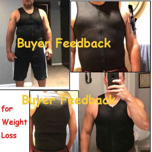 Nieuwe mannen Afslanken Neopreen Vest Zweet Shirt Body Shaper Taille Trainer Shapewear Mannen Top Shapers Kleding Mannelijke