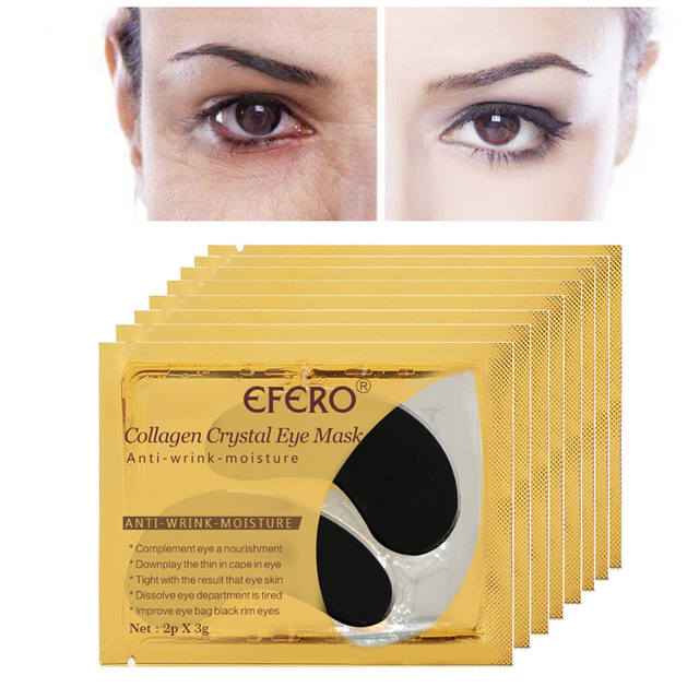 EFERO 5pair=10pcs Collagen Eye Mask Eye Pads Skin Care Hydrogel Patches for Eyes Mask Anti Dark Circle Anti-Puffiness Face Mask 3