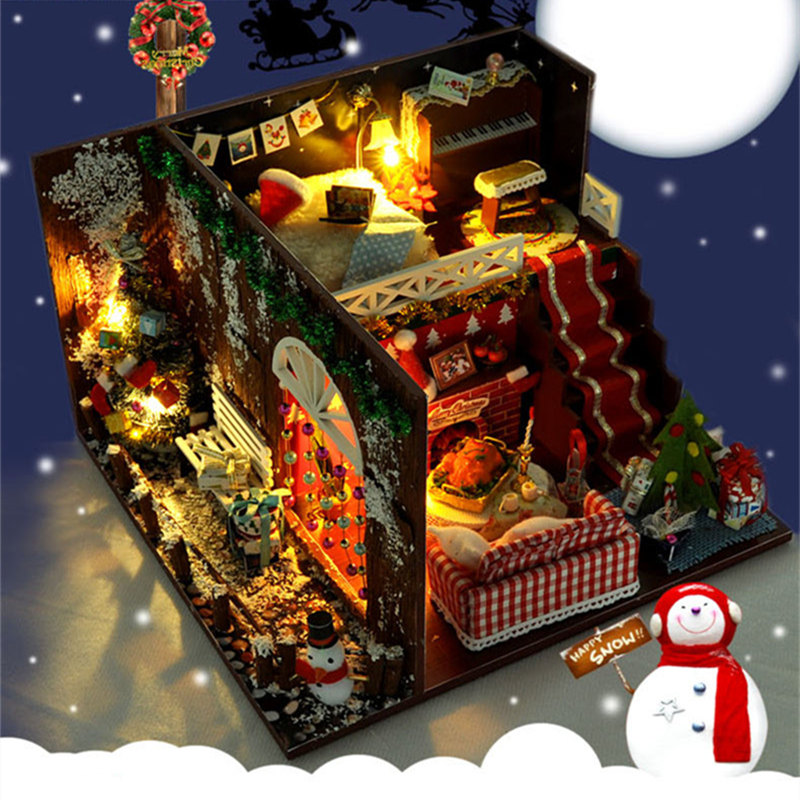 Merry Christmas DIY Miniature Room Kit (With dust cover)