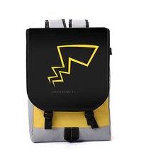 Новый Pocket Monsters Рюкзак косплей Пикачу Аниме Нейлон Школьная Сумка Для Ноутбука