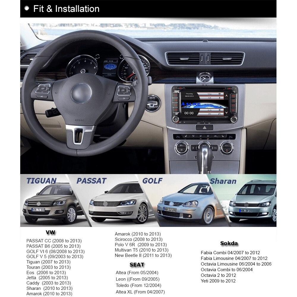"A Sure 7"" DVD GPS Radio Player Sat Nav Navigation system for VW PASSAT B6  Skoda Seat Golf MK5 MK6 Tiguan Sharan Touran Polo -in Car Multimedia Player  from ..."