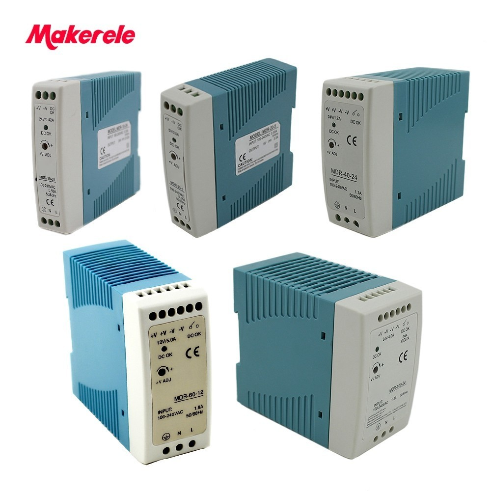 Mini Size Din Rail power supply 12/24V ac dc switching Power Supply 10W 20W 40W 60W 100W with Ce Approv for led driver