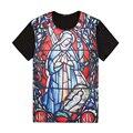 2017 Novo T-shirt dos homens de Impressão Dos Desenhos Animados Da Moda Verão Camisas Dos Homens T de Hip Hop de Manga Curta T-shirt Plus Size 2XL-7XL T17289