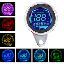 цена на 12V Waterproof Motorcycle Instrument Tachometer Odometer Oil gauge Speedometer Combination with LED Blacklight for Motorcycle