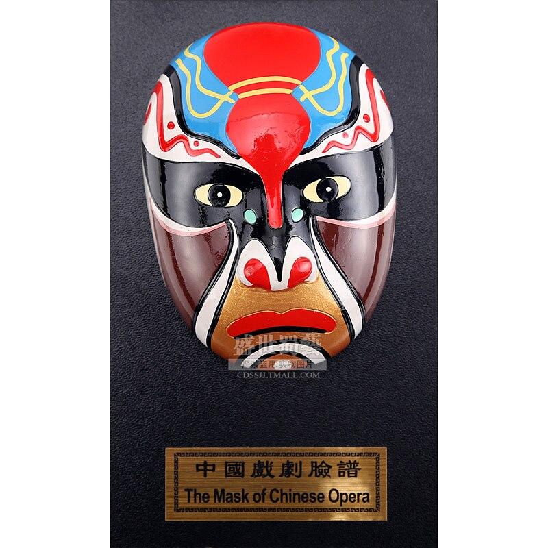 15cm Height Peking Opera Mask Hululian Table Wall Decoration Folk Handicraft Furnishing Articles Chinoiserie Gifts