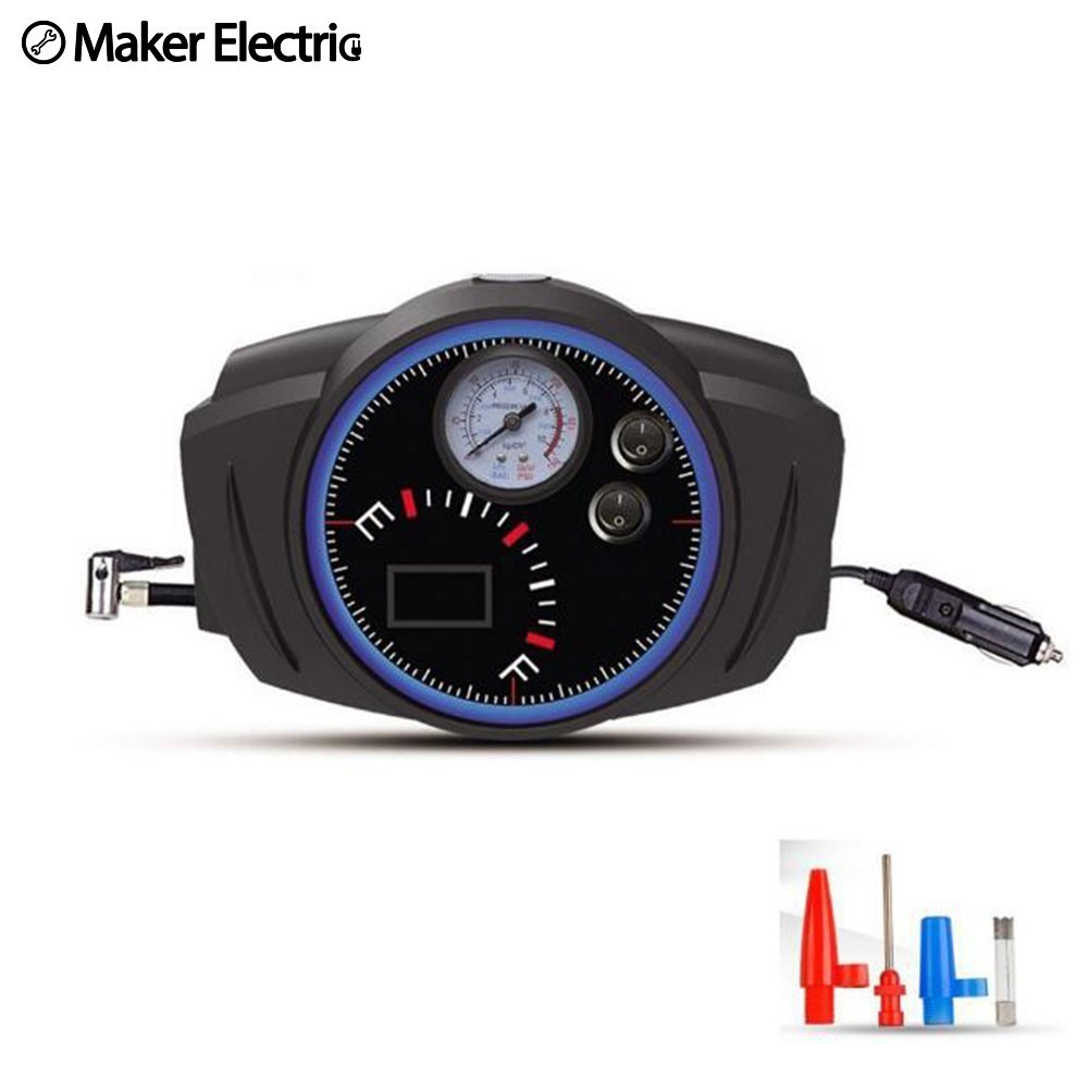 Hot sale Car pump watch Shape air compressor 35L/min lighting 19 and 25 cylinder inflator emergency