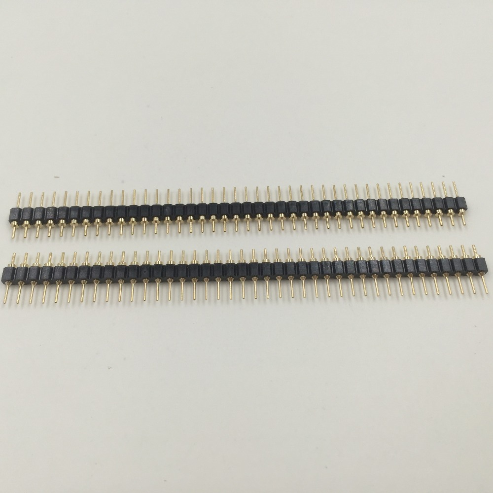 2.54mm Pitch 1x40 40 Male Pins Single Row Header Connector Strip