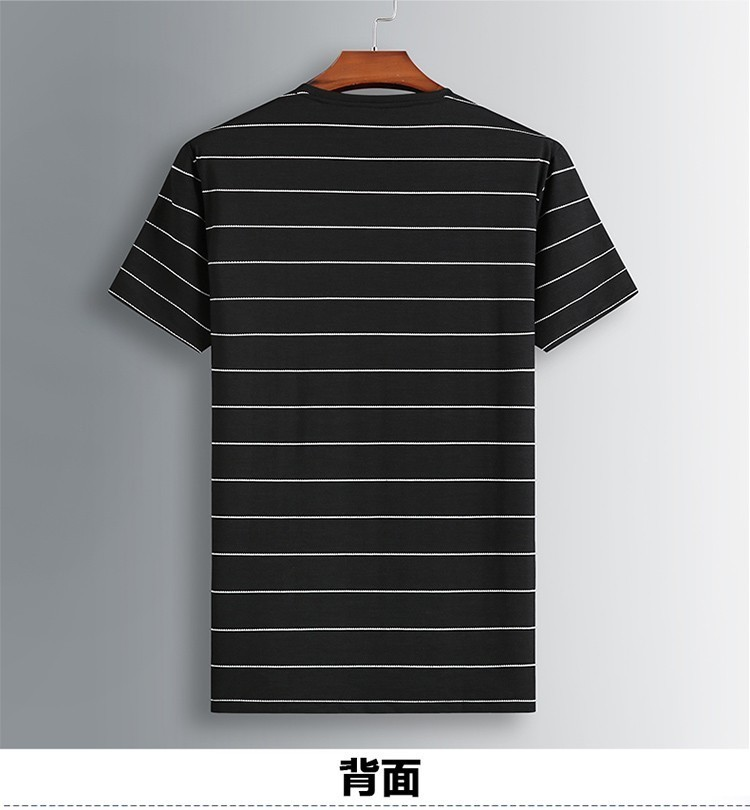 8XL 7XL Polo Shirt Men's Business Casual Summer Breathable Short Sleeve Striped Polo Shirt Cotton Of High Quality 81931 Poles 45