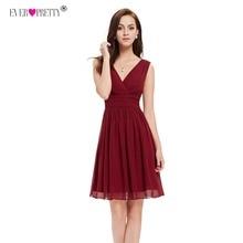 Ever Pretty/брендовые короткие платья для выпускного вечера; черные платья для свадебной вечеринки; трапециевидные милые платья для девочек; robe courte mezuniyet elbiseleri