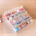 5 layer nail polish display shelf acrylic transparent nail salon exhibition of cosmetic organizadores display shelf Jewelry box