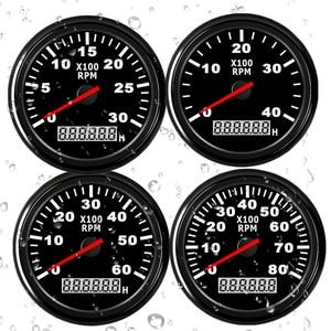 Image 5 - 85mm เรือรถ TACHOMETER, auto มอเตอร์ TACHOMETER สำหรับเครื่องยนต์ดีเซลเบนซินสีแดง 0 9990 RPM 12 V 24 V Lap TIMER เมตร