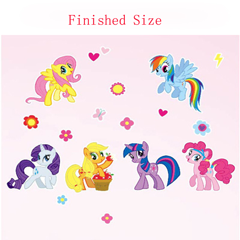 2016 New Wall Sticker Home Decor DIY My Little Pony Wall Decal 6 Ponies  Removable Wall Sticker Girls Room Decoration Wallpaper In Wall Stickers  From Home ... Part 64