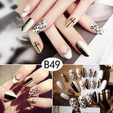 Hot sale 24Pcs/Set Multi Types Fake Nails Tips Top Finish Finger Nail Art Decor for Brides Wedding