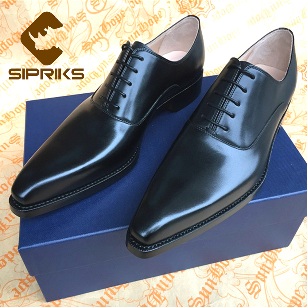Sipriks Shops Custom Mens Goodyear Welted Shoes Pointed Toe Oxfords Shoes for men Italian Handmade Mens Dress Shoes European 2016 luxury mens goodyear welted oxfords shoes vintage boss brogue shoes italian mens dress shoes elegant mens gents shoes derby