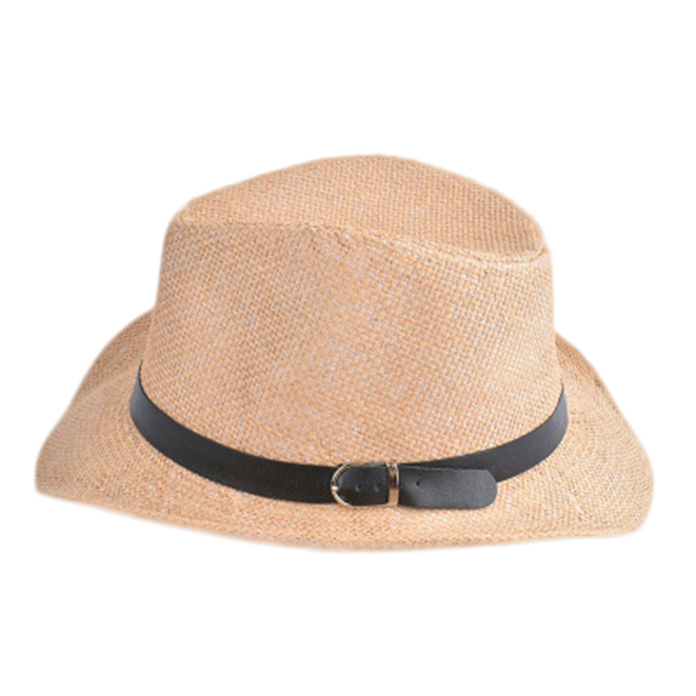 7d3ed240034 New Cowboy Cap Summer Beach Travel Sunhat Popular Unisex Men Women Straw Hat  with Black Belt band Wholesale-in Sun Hats from Apparel Accessories on ...