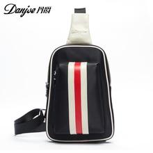 Danjue высокое качество Для мужчин груди мешок Оксфорд натуральная телячья кожа Крест Для тела Сумки дорожная сумка плечо Повседневное поясная сумка