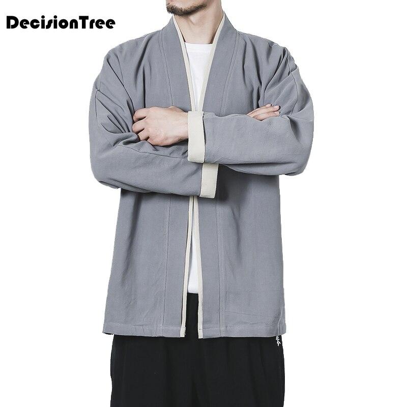 color2 Mâle color3 Courtes Lin Nouveau Impression Solaire Manteau Manches color4 Crème Hommes Kimono À Japonais 2019 Casual Coton Color1 Cardigan 8IUXqTIx