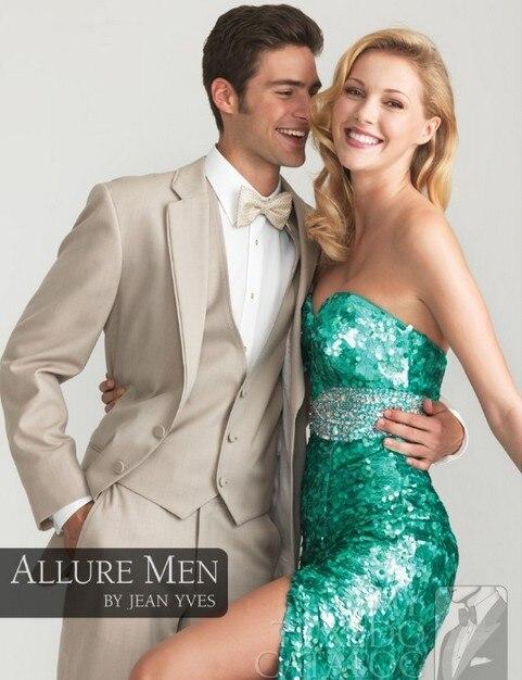 Handsome 4 Pieces New Design Mens Business Dress 2 Buttons Wedding Suit For Men Groom Dresses Best Man Dresses