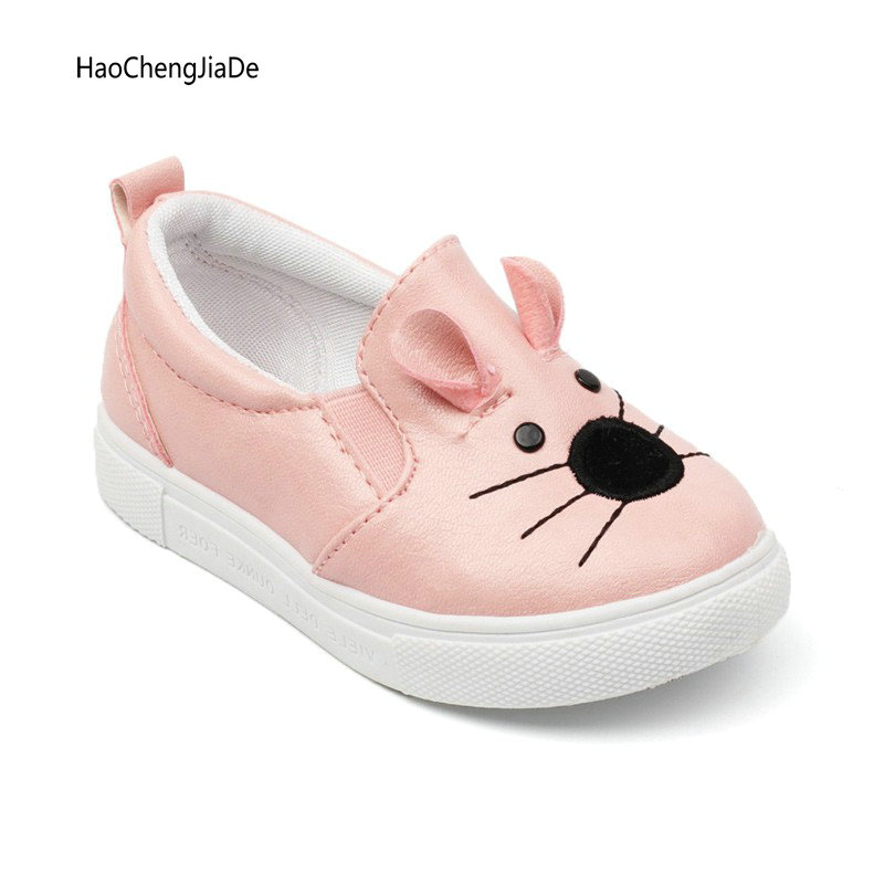 Nuevos niños de la manera del otoño del resorte de niños niñas niños precioso zapatillas pisos casuales de dibujos animados niños deportes zapatos calzado