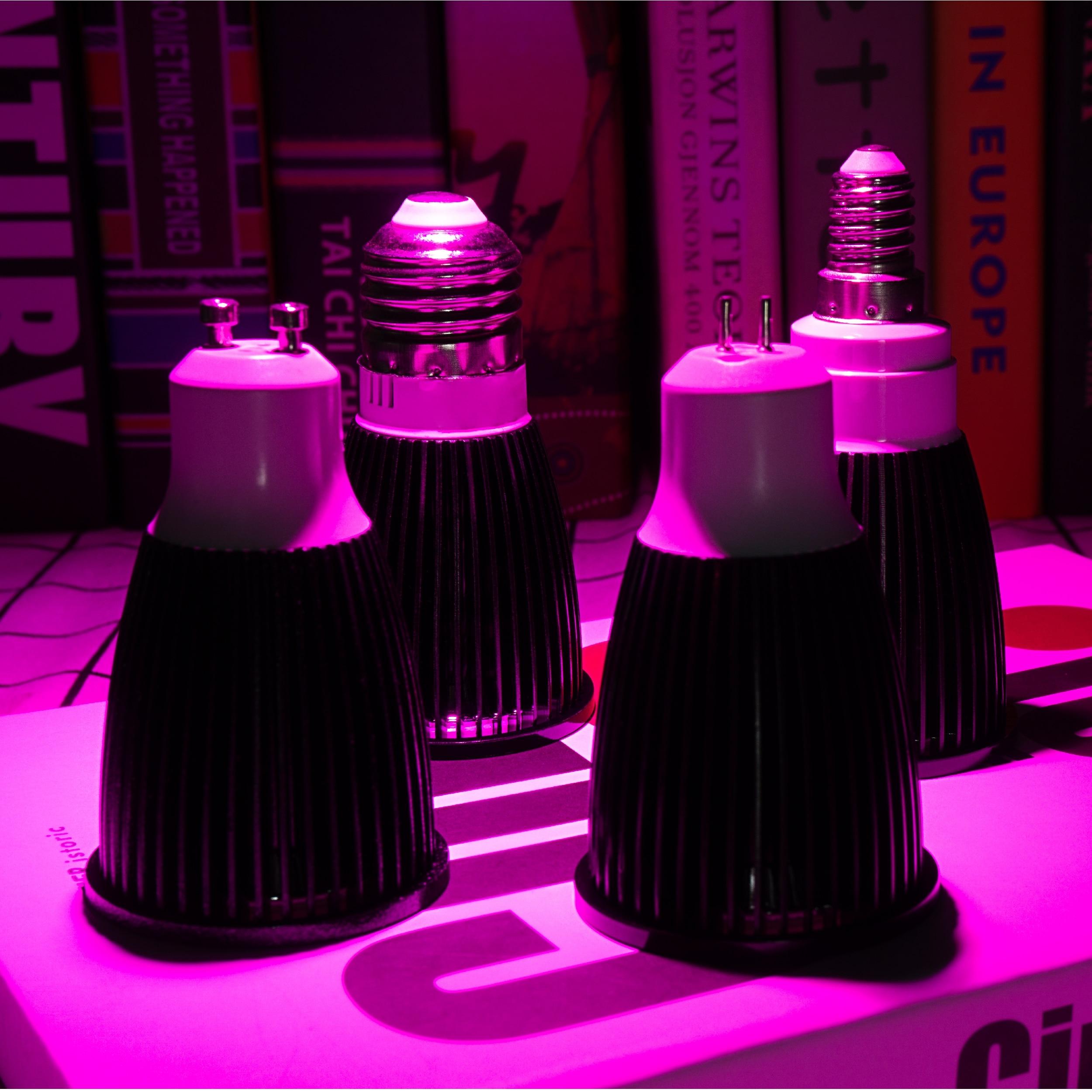 led espectro completo spotlight bulbo gu mr 04