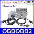 Melhor Qualidade ELM327 USB Metal V1.5a Suporte Todos OBDII/2 Protocolos ELM 327 CAN-BUS Scanner ELM327 V1.5 Alumínio Livre grátis