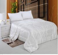 Chinese Silk Quilt Summer Comforter Bedspreads Quilted Blanket Bedding For King Size Bed Cover White Pink