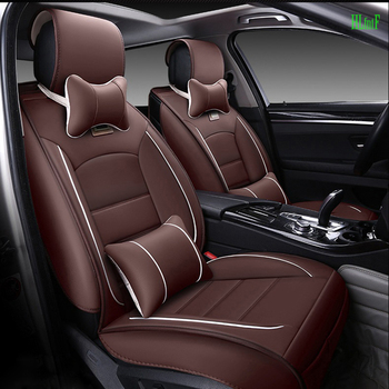 Leather Car Seat cover Includes Front and Rear cover For Lada granta largus VU priora 110 111 112 Kalina Niva car accessories