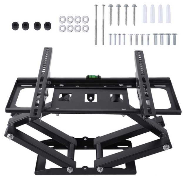 Telescopic Tv Holder Tilt Swivel Television Bracket Double Arms Wall Mount For 26 55 Inch Led Lcd Plasma Tvs Racks