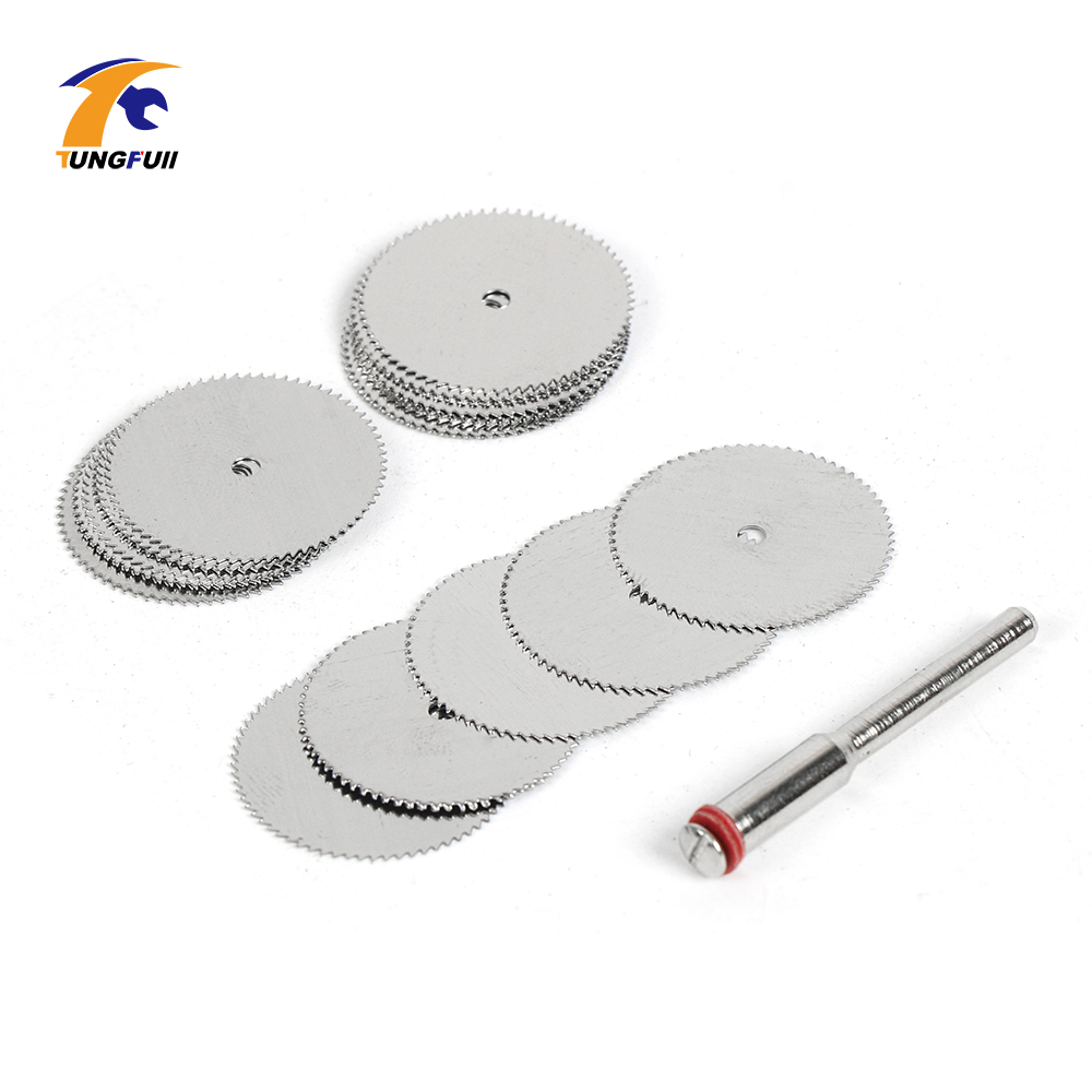 Drop Shipping Tool Set 20pcs/lot 22mm Circular HSS Saw Blades Wood Cutter Dremel Accessory For Rotary Tools Woodworking-in Abrasive Tools from Tools
