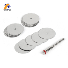 Drop Shipping Tool Set 20pcs/lot 22mm Circular HSS Saw Blades Wood Cutter Dremel Accessory For Rotary Tools Woodworking