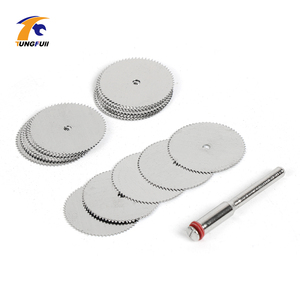 Image 1 - Drop Shipping Tool Set 20pcs/lot 22mm Circular HSS Saw Blades Wood Cutter Dremel Accessory For Rotary Tools Woodworking