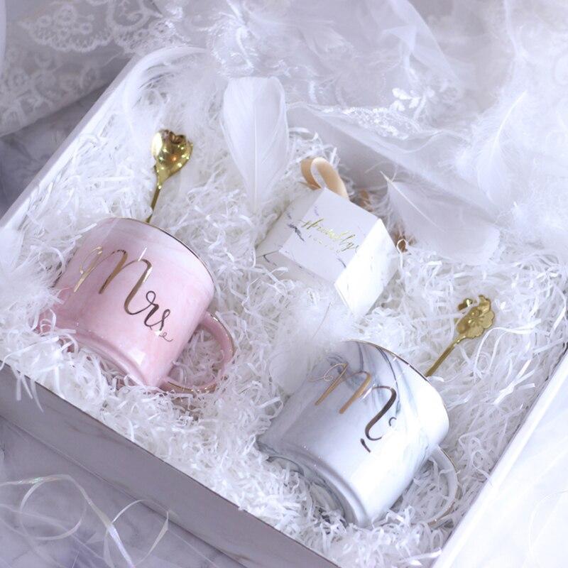 Wedding Gift From Groomsmen: 1set Ceramic Mr Mrs Couple Cup Set Valentine's Anniversary