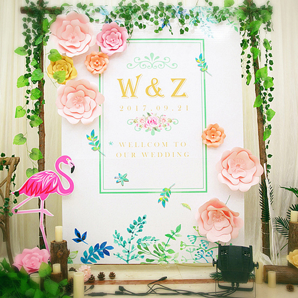 Aliexpress Buy 2pcs Paper Flower Template Diy Kit And Flower