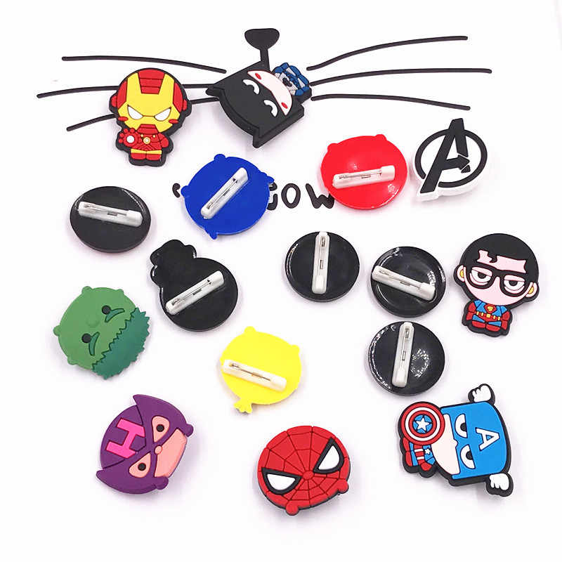 1 PCS Iron man Avenger Captain America Hulk Spider Man Harajuku Bros Lencana Pin Pakaian Jins Ransel Bros Pins Pinbacks