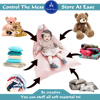 Creative Large Toy Storage Bag 100% Cotton Stuffed Animal Storage Bean Chair Cute Poms Seat Lounger Sofa for Kids (Cover Only) 1