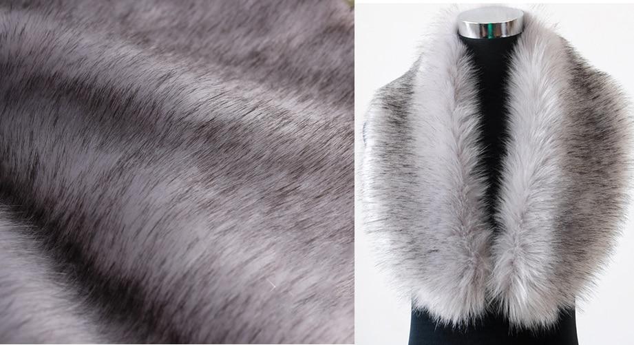High grade dye tip faux fur fabric imitation fox fur felt cloth scarves jacket material fabric
