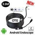 5.5mm OD Android USB Câmera Endoscópio 3.5 M À Prova D' Água IP68 Android Móvel USB Câmera Borescope Flexível Cobra USB Camera