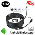 5.5mm OD Android USB Endoscope Camera 3.5M IP68 Waterproof Android Mobile USB Borescope Camera Flexible Snake USB Camera