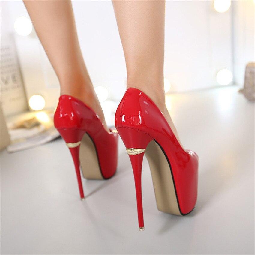 Femme Chaussures Grande Noir Femmes Toe De Plate Chaton Talons Pompes rouge forme blanc Mariage Hauts À Peep 34 Super Taille 40 zU64zq8