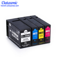 Full Set 4 Color for PGI 1500XL Pigment Ink Cartridge Compatible for Canon Printer MAXIFY MB2050/MB2350