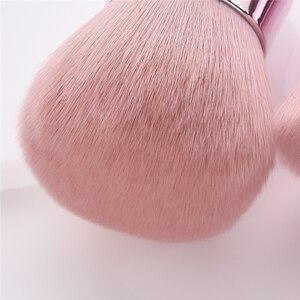 Image 3 - BBL Pro розовая Кисть для макияжа лица/тела/щеки Кабуки мягкая и пушистая портативная Кисть для макияжа для смешивания