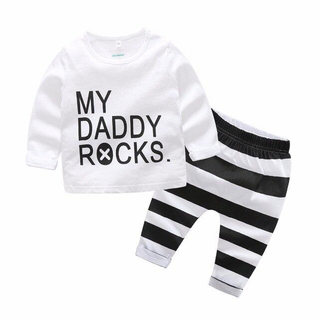 2943e5030 2018 Spring baby boys cotton t shirts + pant set high quality infant ...