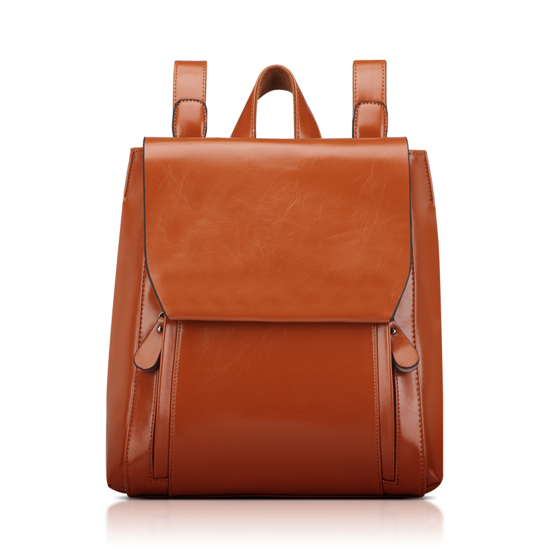 Women leather Backpack 2016 fashion vintage travel backpack shcool style student women bag