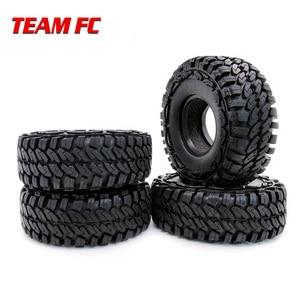 "Image 1 - 4 pezzi 1.9 ""RC Rock Crawler gomma rocce pneumatici/ruote pneumatici per 1:10 assiale SCX10 RC4WD D90 D110 TF2 114MM TRX 4 S104"
